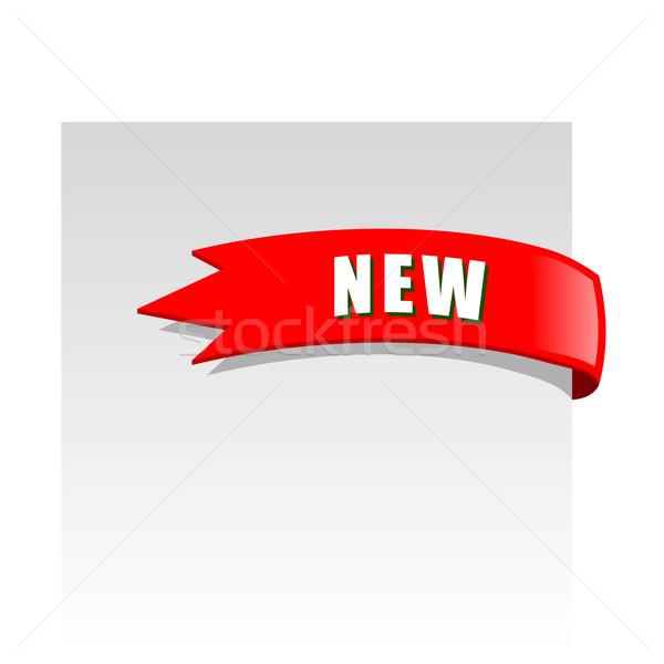 Foto d'archivio: Nuovo · rosso · angolo · business · nastro · bianco