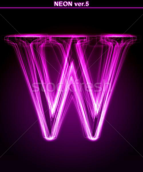 Glühend Schriftart glänzend neon Schreiben Stock foto © Designer_things