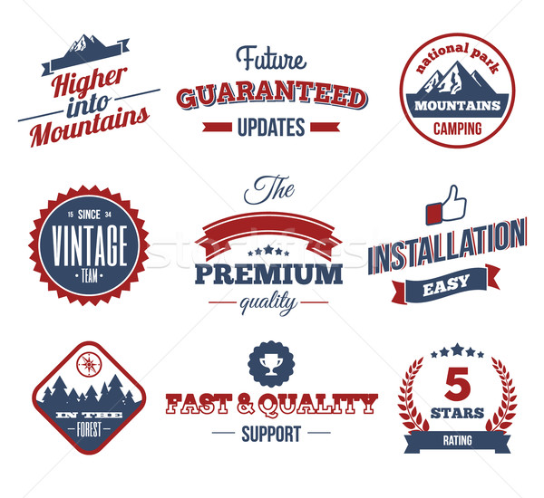 Premium labels. Hight Quality Design Elements. Retro vintage Style Design. Vector Stamp Backgrounds. Stock photo © Designer_things