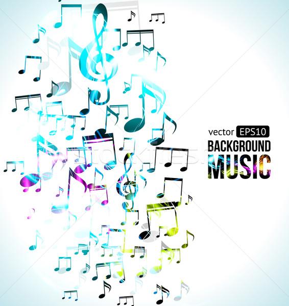 Vector muziek nota ontwerp textuur achtergrond Stockfoto © Designer_things