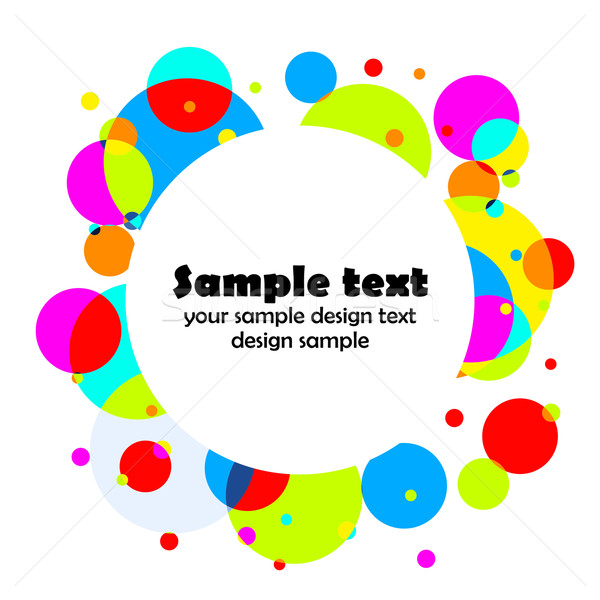 Round color background Stock photo © Designer_things