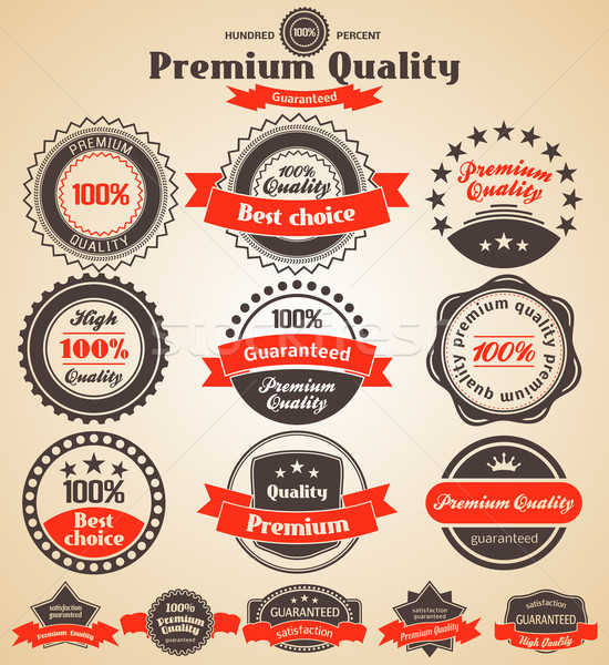 Premium Quality Labels. Design elements with retro vintage desig Stock photo © Designer_things