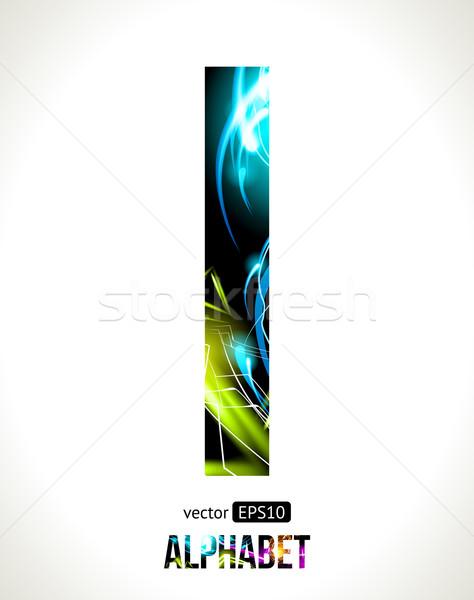 Letter i vector ontwerp licht effect alfabet Stockfoto © Designer_things