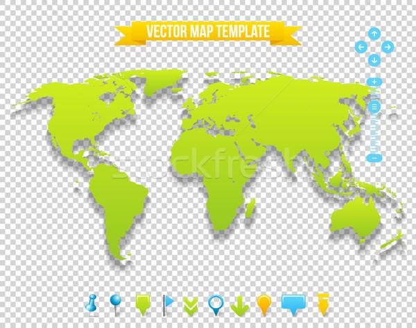 Photo stock: Vecteur · carte · modèle · Voyage · terre · design
