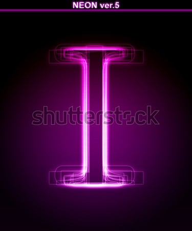 Shiny font. Glowing number 1. Stock photo © Designer_things