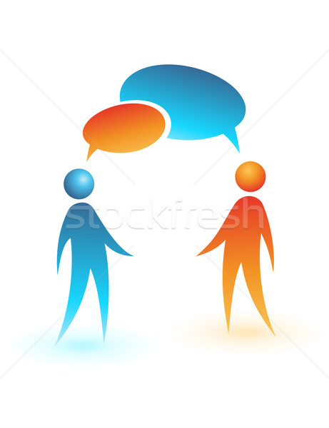 Social Media Symbol Vektor Menschen Business Chat Stock foto © Designer_things