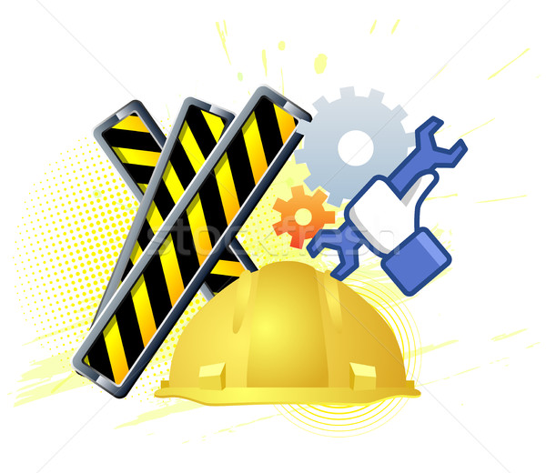 Maintenance mode icon with hand wrench. Like work emblem Stock photo © Designer_things