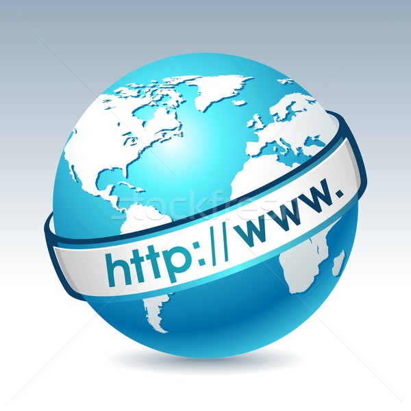 Globe with internet adress Stock photo © Designer_things