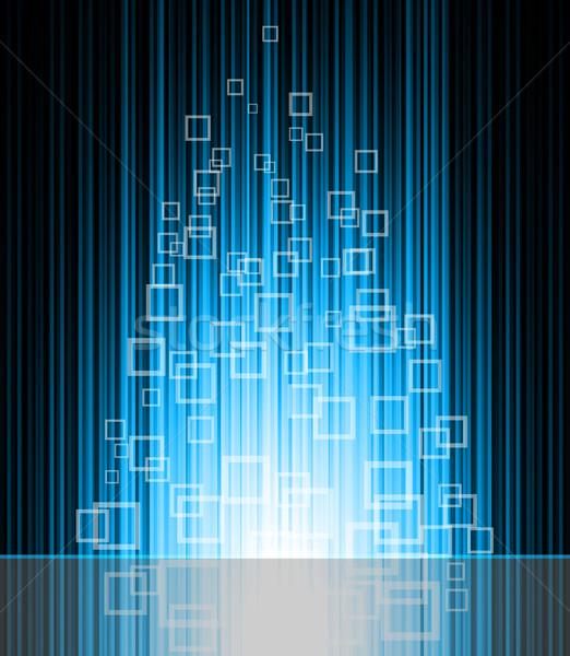 аннотация синий вектора неоновых линия дизайна Сток-фото © Designer_things