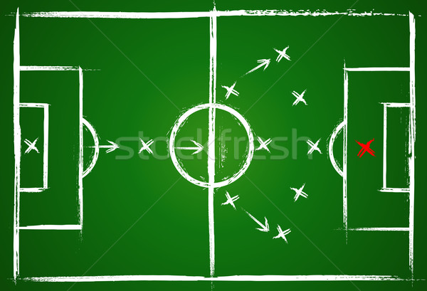 Football positions. Teamwork strategy Stock photo © Designer_things