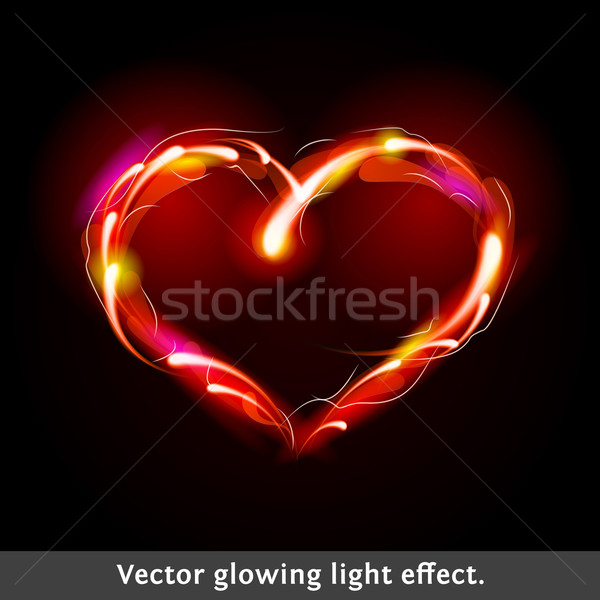 Vector light effect heart Stock photo © Designer_things