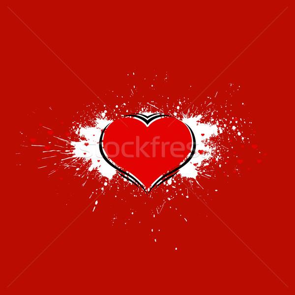Glossy heart. Vector love card Stock photo © Designer_things