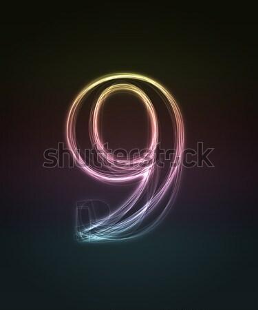 Doopvont aantal geïsoleerd zwarte Stockfoto © Designer_things