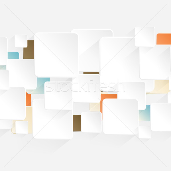Modern Origami Arrow style options banner. Vector illustration for Workflow Layout. Stock photo © Designer_things
