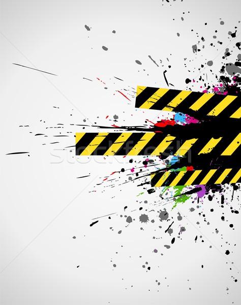 промышленных аннотация Гранж всплеск красочный дизайна Сток-фото © Designer_things