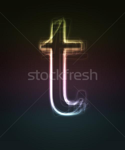 Doopvont neon klein Stockfoto © Designer_things