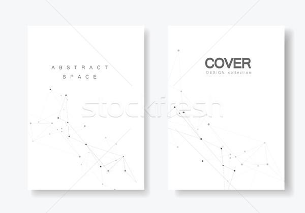 Set vector brosuri sablon conectaţi proiect Imagine de stoc © designleo