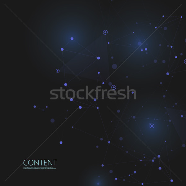 Abstract polygonal with connecting dots and lines. Connection science background. Stock photo © designleo