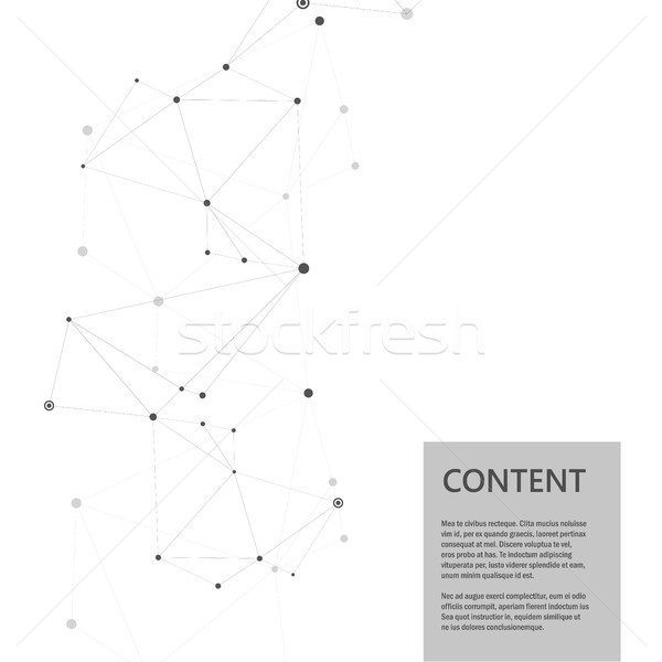 Abstract molecules connect design. Atoms technology structure with connect elements Stock photo © designleo