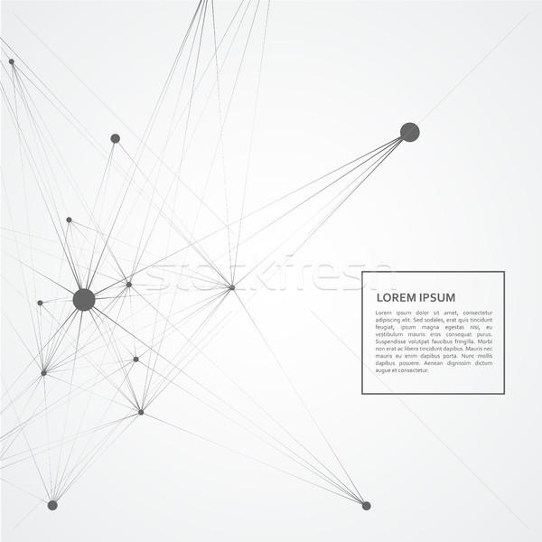 Conectar rede linhas ciência padrão tecnologia Foto stock © designleo