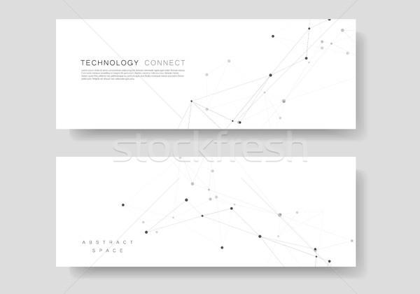 Ingesteld vector sjabloon verbinding ontwerp abstract Stockfoto © designleo