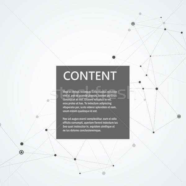 Abstract moleculen verbinding ontwerp technologie structuur Stockfoto © designleo