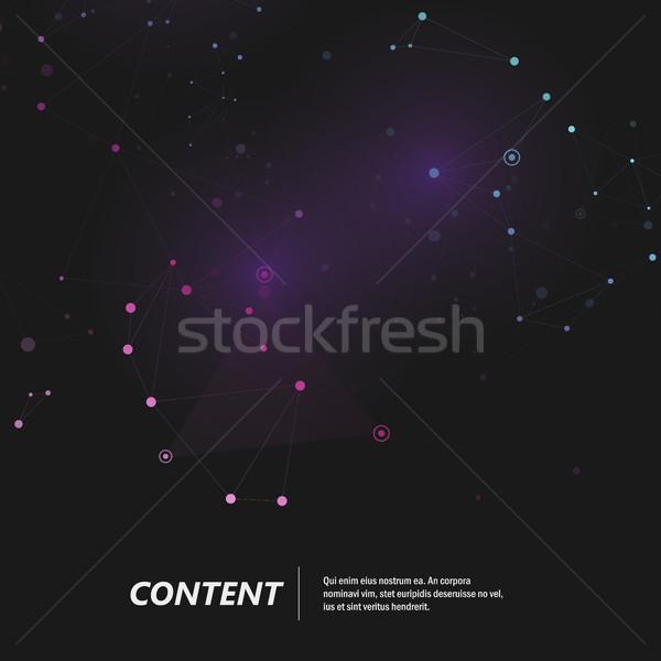 Criador escuro linhas negócio abstrato Foto stock © designleo