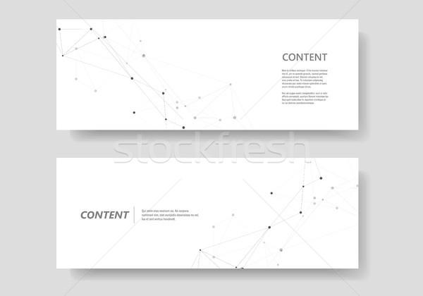 Conjunto vetor modelo conectar projeto abstrato Foto stock © designleo