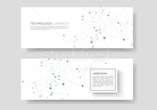 Abstrato conectar linhas moderno vetor templates Foto stock © designleo