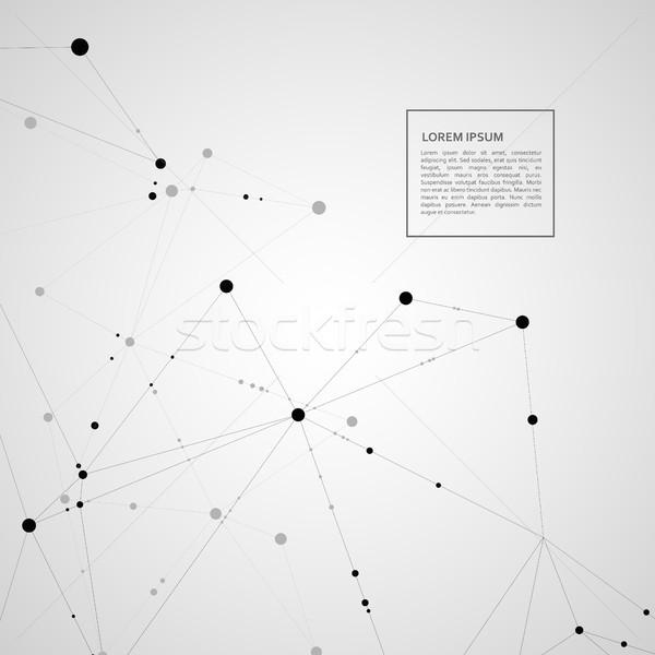 Padrão preto linhas branco textura abstrato Foto stock © designleo