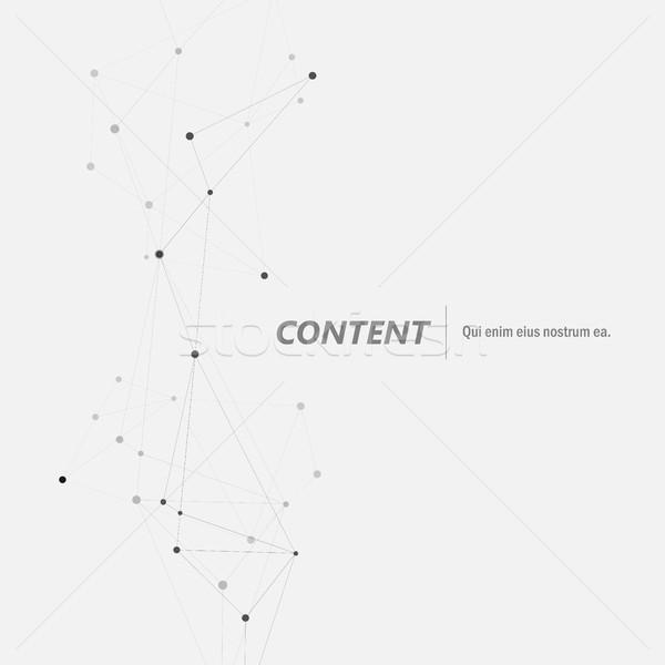 幾何学的な 抽象的な 接続 行 技術 分子の ストックフォト © designleo
