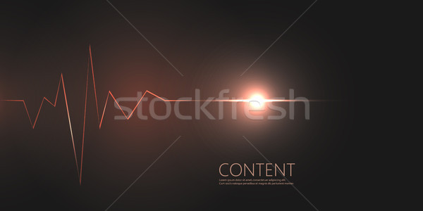Résumé cardiogramme sombre vecteur bannière design Photo stock © designleo