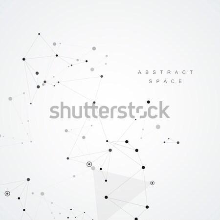 Pontos em linha reta linhas simples criador negócio Foto stock © designleo