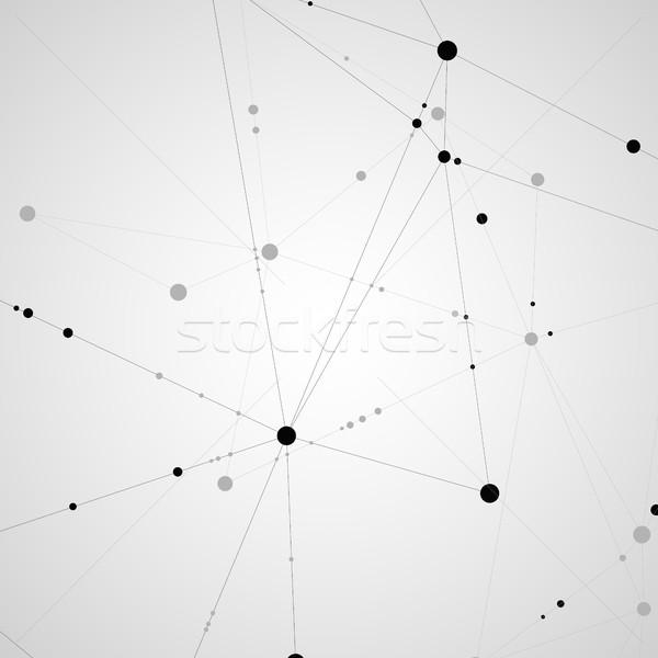 Padrão preto linhas branco computador internet Foto stock © designleo