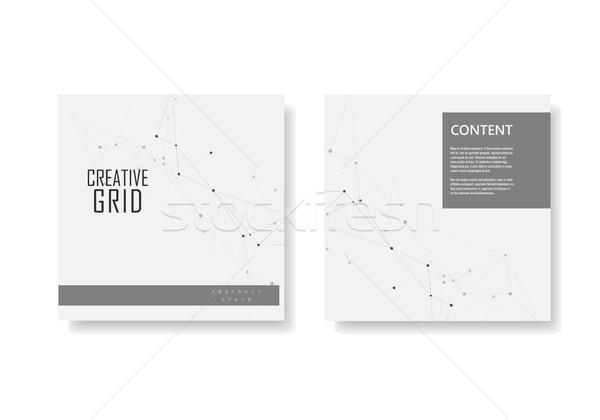 Conjunto vetor brochuras modelo conectar projeto Foto stock © designleo