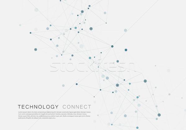 Linhas criador grade pontos superfície Foto stock © designleo