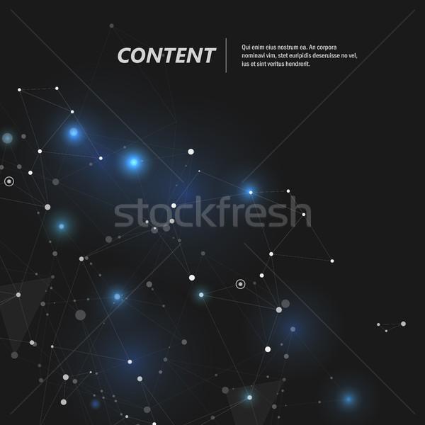 Abstrato linhas conexão ciência negócio Foto stock © designleo