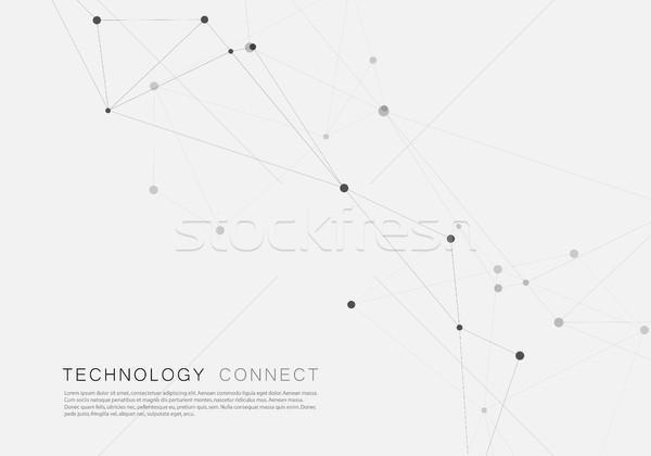Vetor geométrico conexão formas internet abstrato Foto stock © designleo