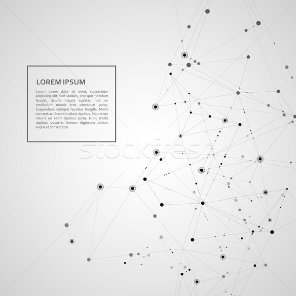 Móc sieci linie nauki wzór technologii Zdjęcia stock © designleo