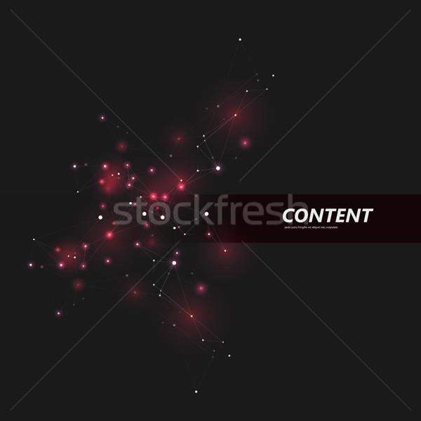 Abstrato triângulo estrutura rede projeto Foto stock © designleo