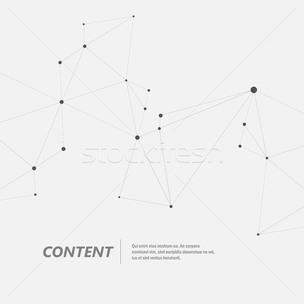 Technology abstract background with connected line and dots. Vector geometric illustration Stock photo © designleo