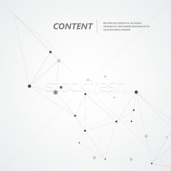 Vetor geométrico conexão formas internet construção Foto stock © designleo