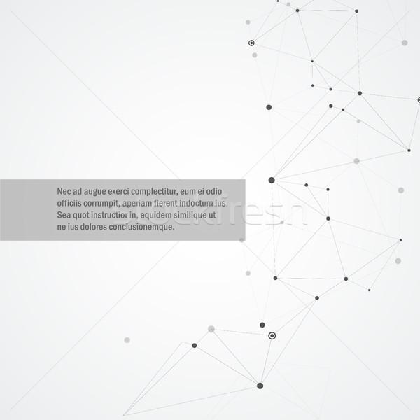 Vetor geométrico conexão formas textura internet Foto stock © designleo