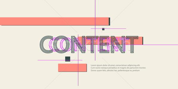 Vetor abstrato projeto decoração papel Foto stock © designleo