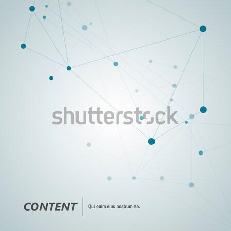 Tecnologia abstract line vettore geometrica illustrazione Foto d'archivio © designleo