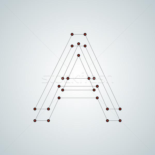 Carta abstrato projeto linhas fundo teia Foto stock © designleo