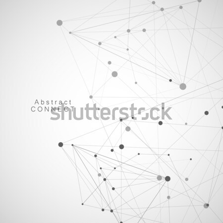 Vector geometric and connection triangles shapes Stock photo © designleo
