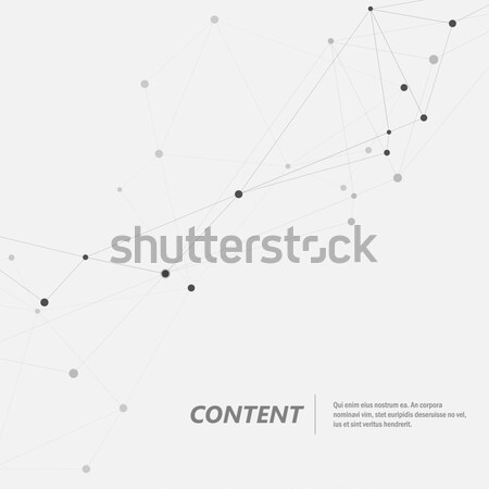 Geométrico abstrato conectar linhas tecnologia molecular Foto stock © designleo