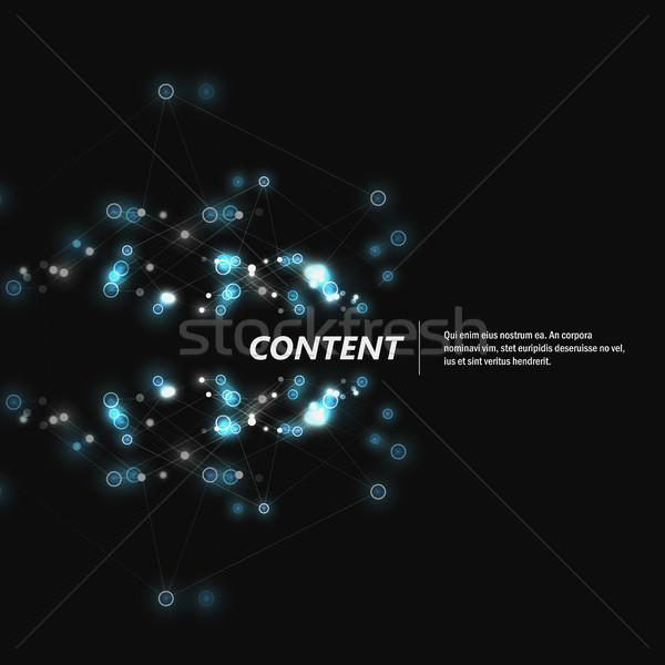 Abstrato estrutura escuro linhas médico Foto stock © designleo