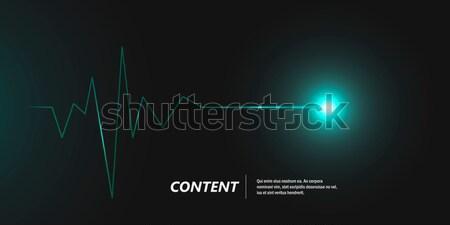 Abstrato cardiograma escuro vetor bandeira projeto Foto stock © designleo